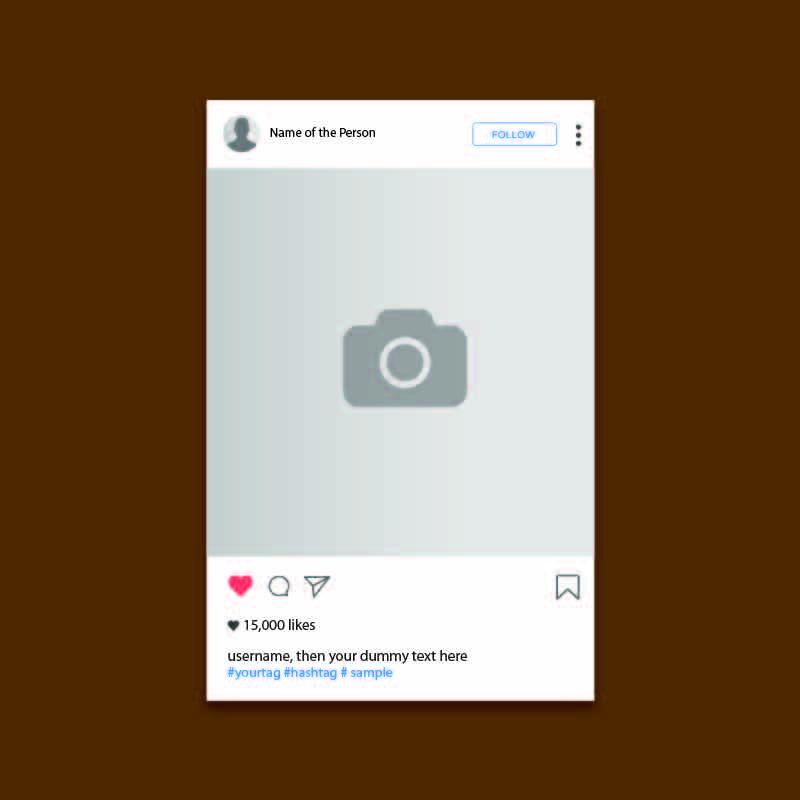 Instagram UI Screen Template Design Free Vector Download