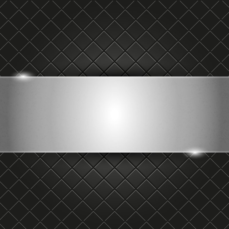 Metal Plate on Black Background Design Free Vector