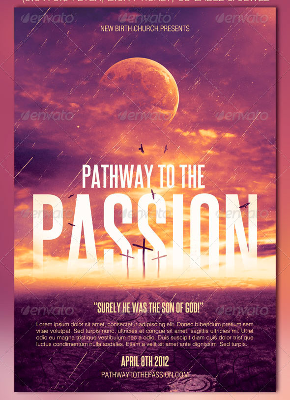 Pathway to the Passion Flyer, Ticket and CD