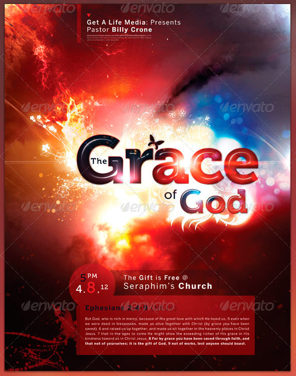 The Grace of God Full Page Flyer and CD Cover