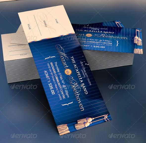 Amazing Ticket Templates Inspiks Market - Event ticket template photoshop
