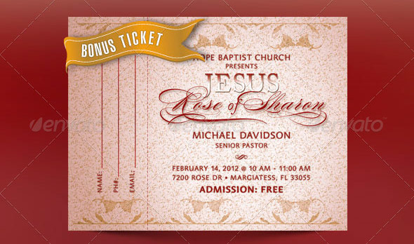 Amazing Ticket Templates – Banquet Ticket Template