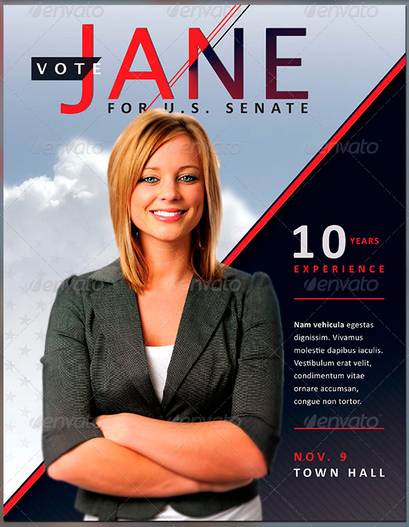 Jane Political Flyer And Mailer Template