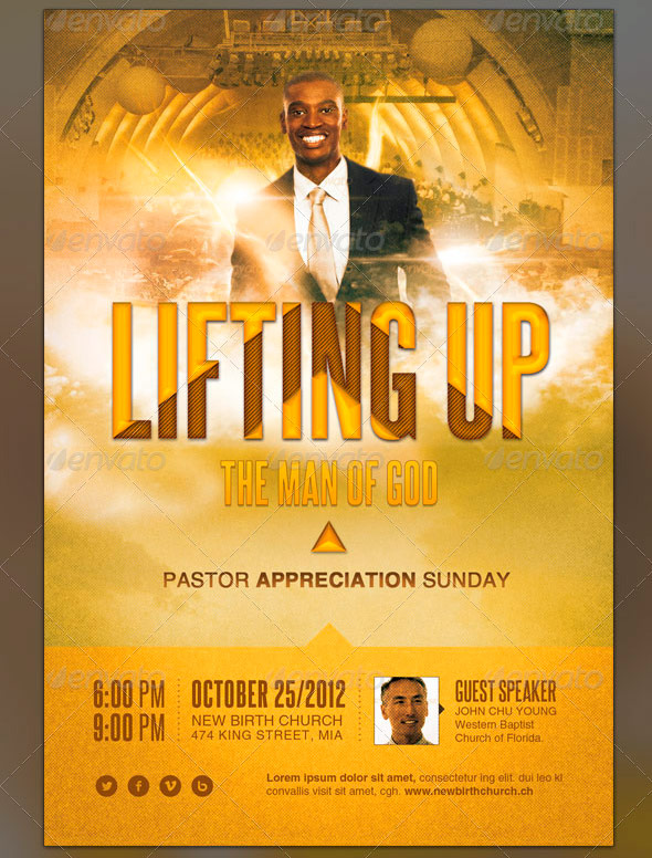Lifting up the Man of God Church Flyer Template