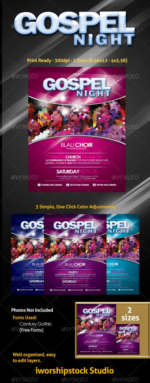 Gospel Flyer Template Graphicmule