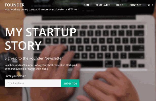 Founder - A Content Marketing WordPress Theme
