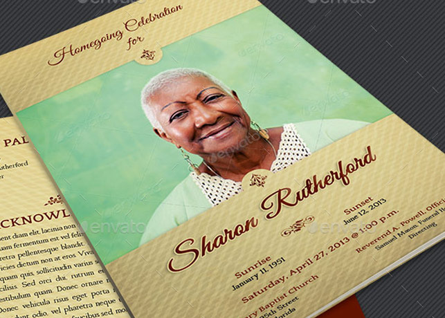 Home Going Funeral Program Template
