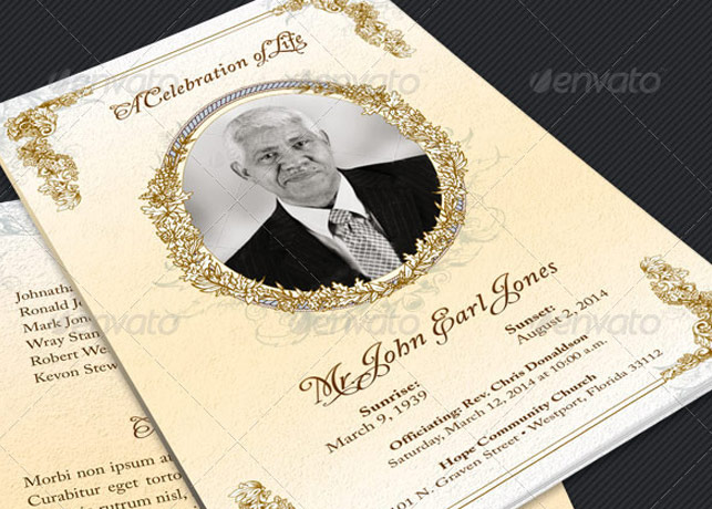 59 Beautiful Obituary Templates Photoshop Plus Publisher | Inspiks