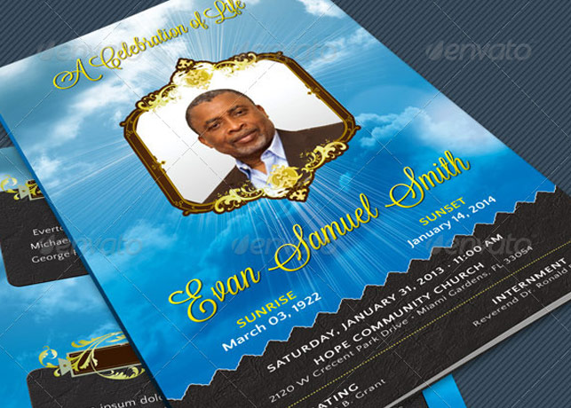 Beautiful Obituary Templates Photoshop Plus Publisher  Inspiks