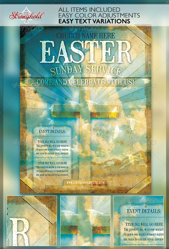 Church Service Event Flyer Template