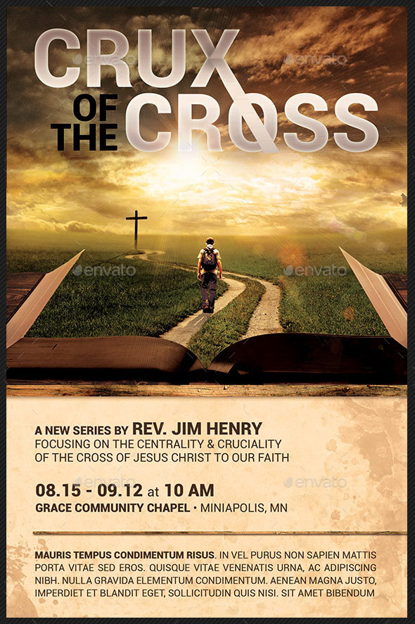 Crux of The Cross Church Flyer Template