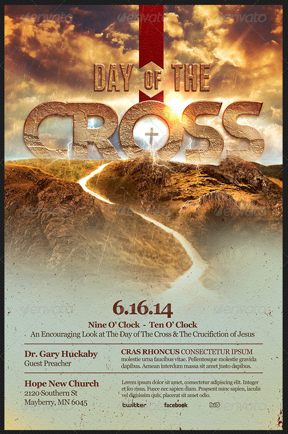 Good Day Of The Cross Church Flyer Template