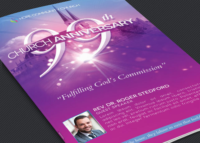 Church Celebration Bulletin Template | GraphicMule