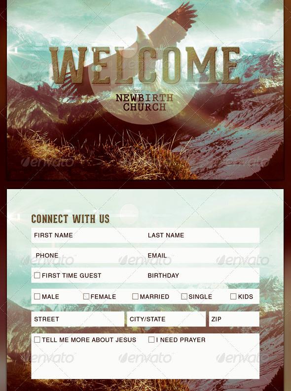 22 church connection card templates
