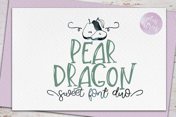 Pear Dragon Sweet font duo