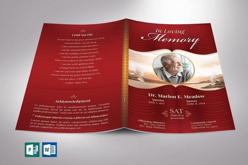 Funeral Program for Men - Word