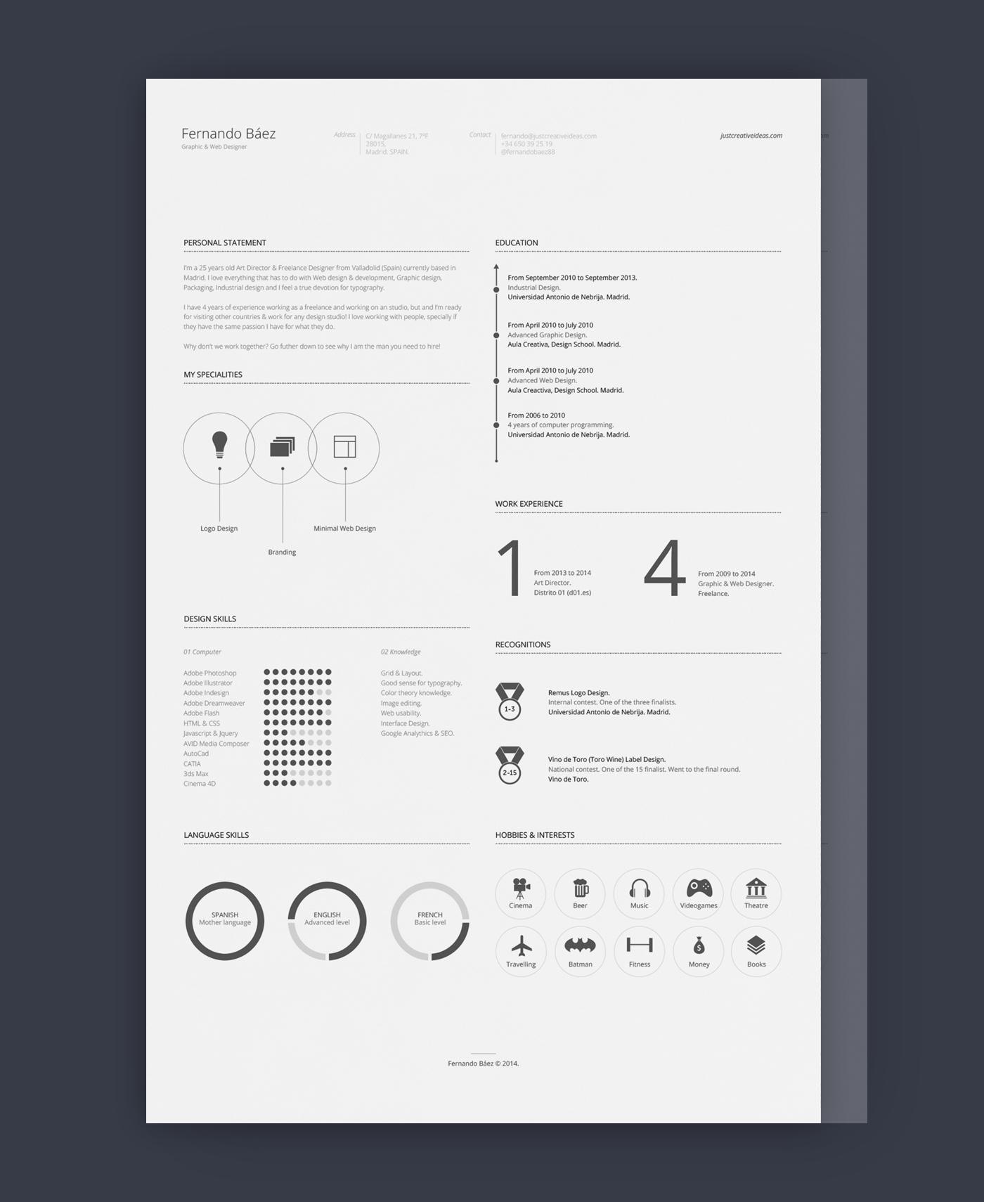 best adobe illustrator resume templates