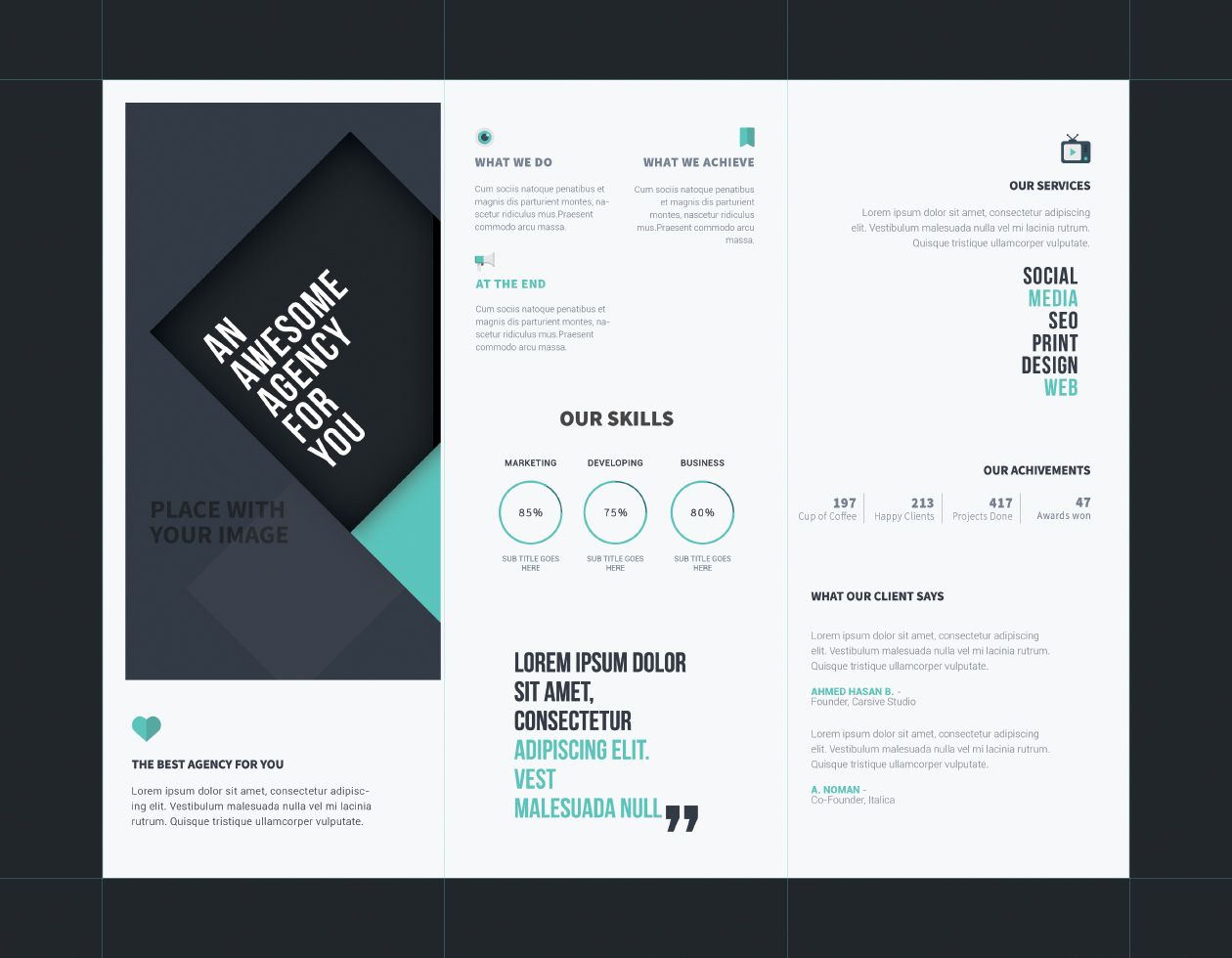 template of a brochure