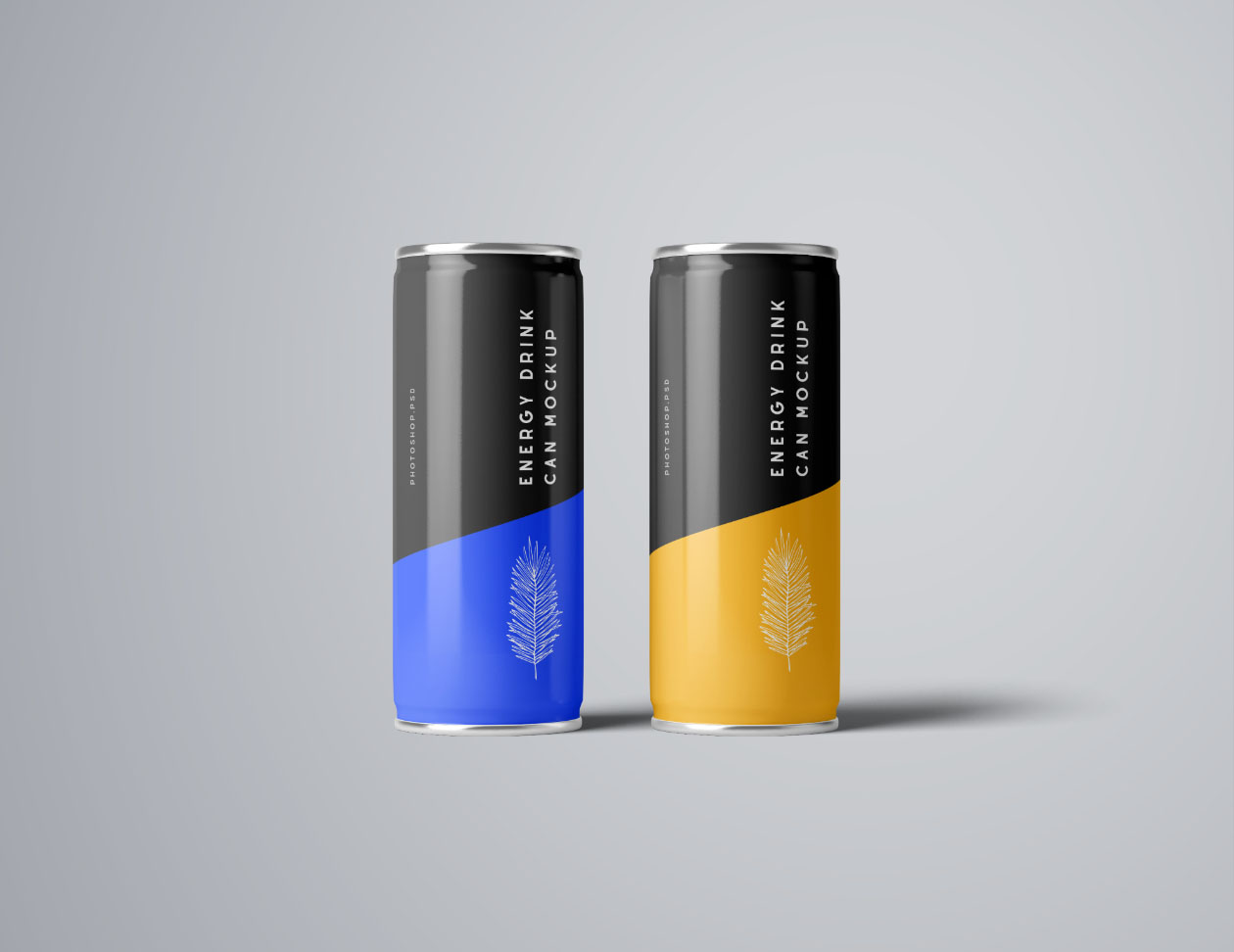 Energy Drink Can Mockup PSD