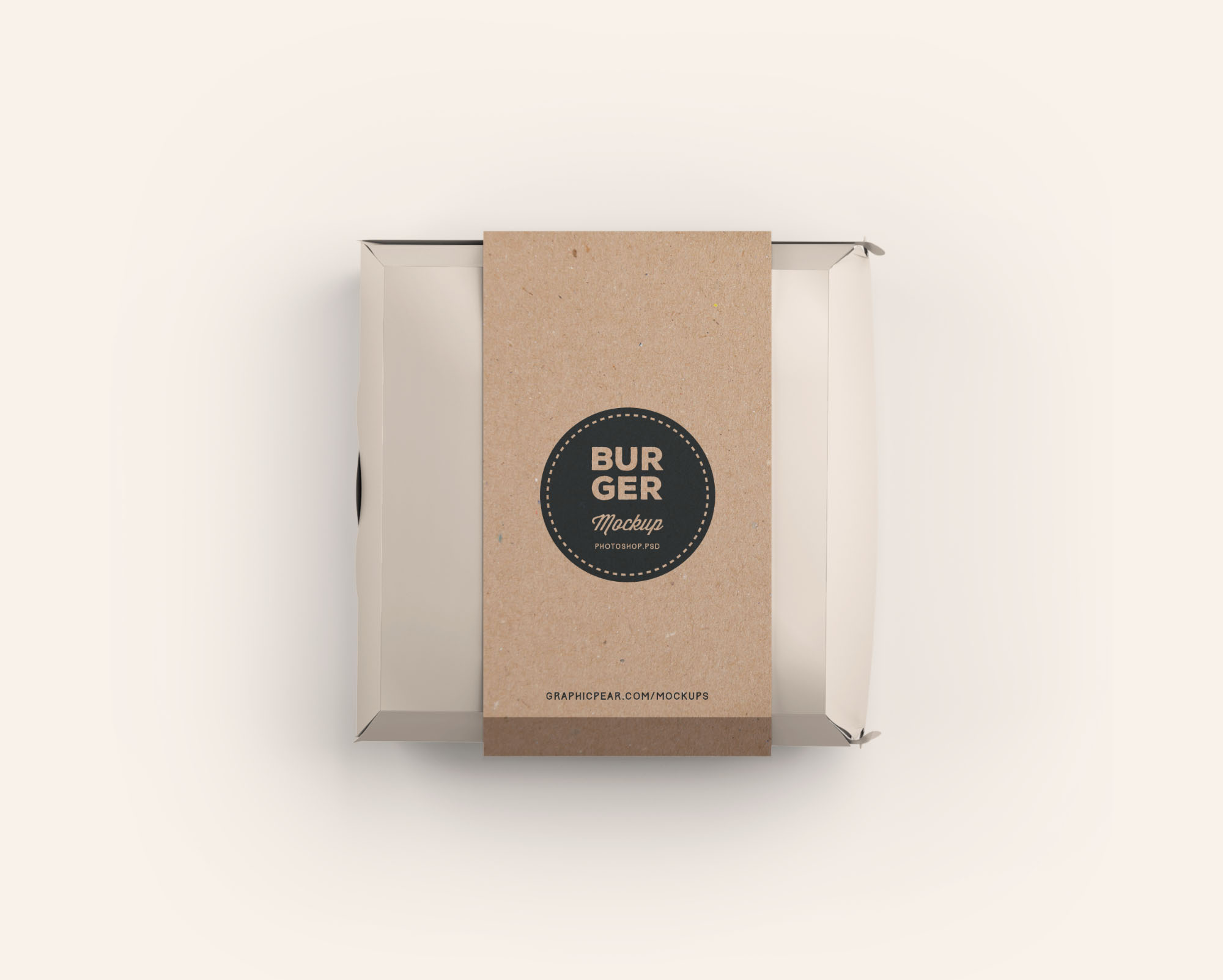 The spines allow for more artwork coverage and the box set has be rotated (natural direction). Burger Box Package Mockup