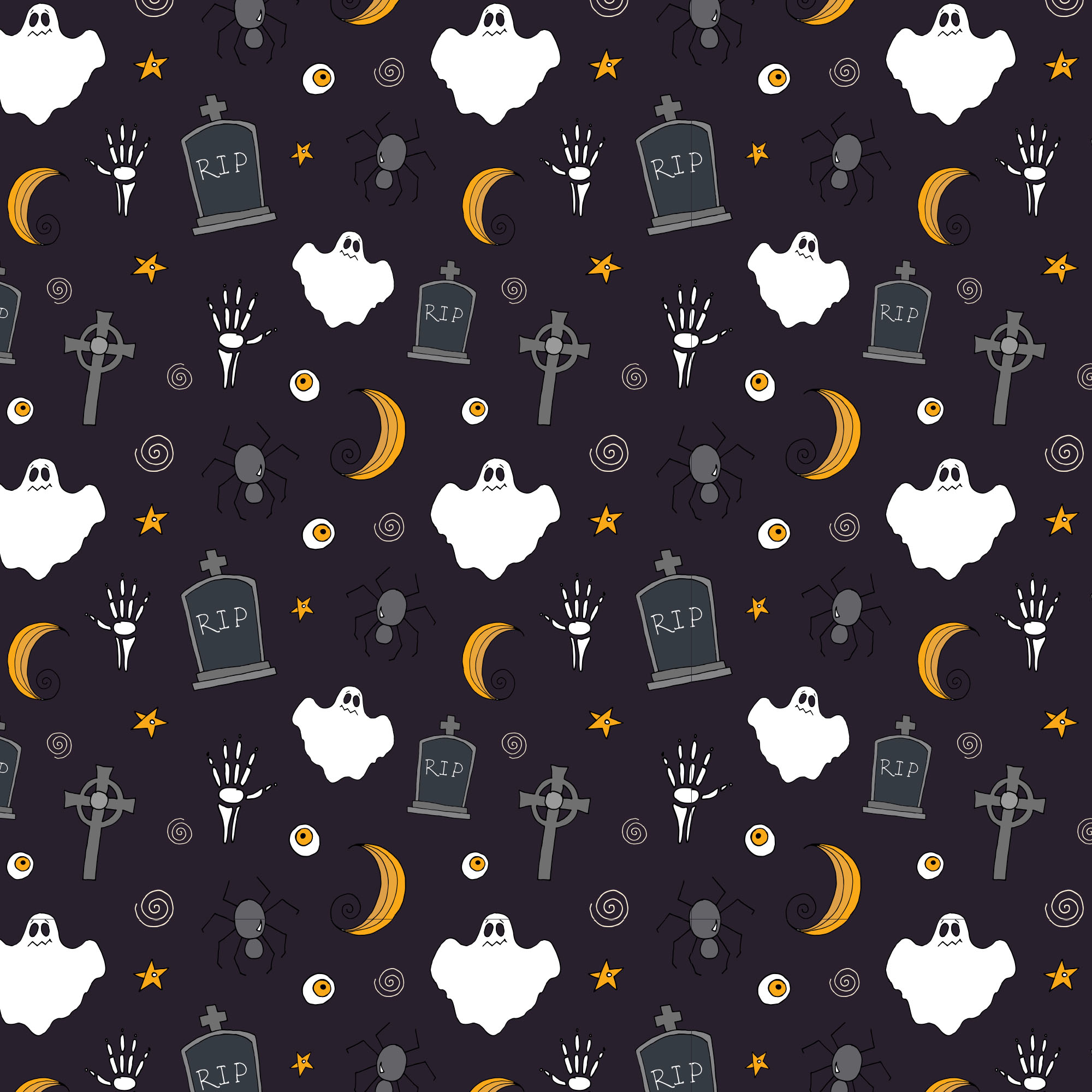 Halloween Vector Elements  Patterns  Part II