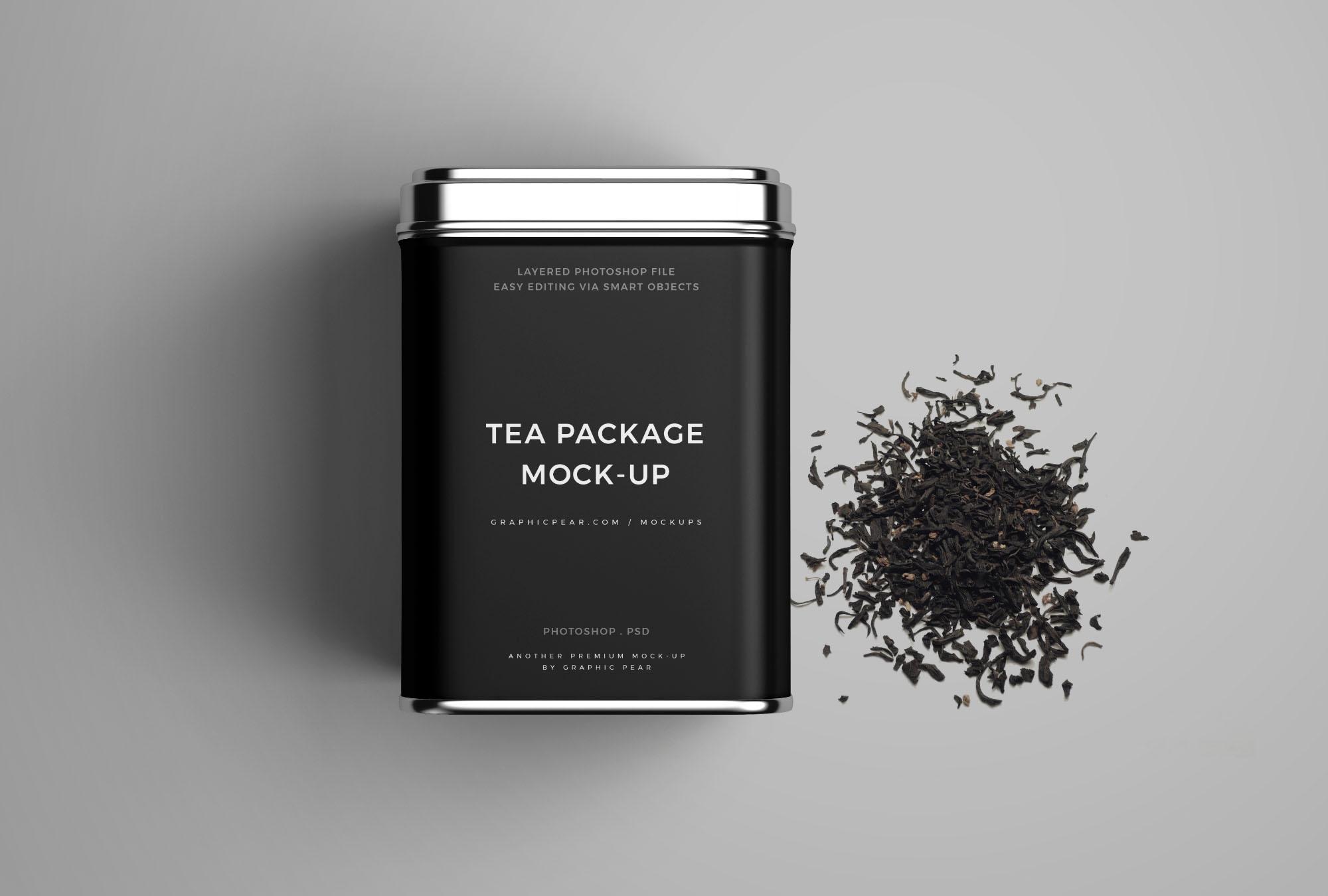 Tea Package Mockup