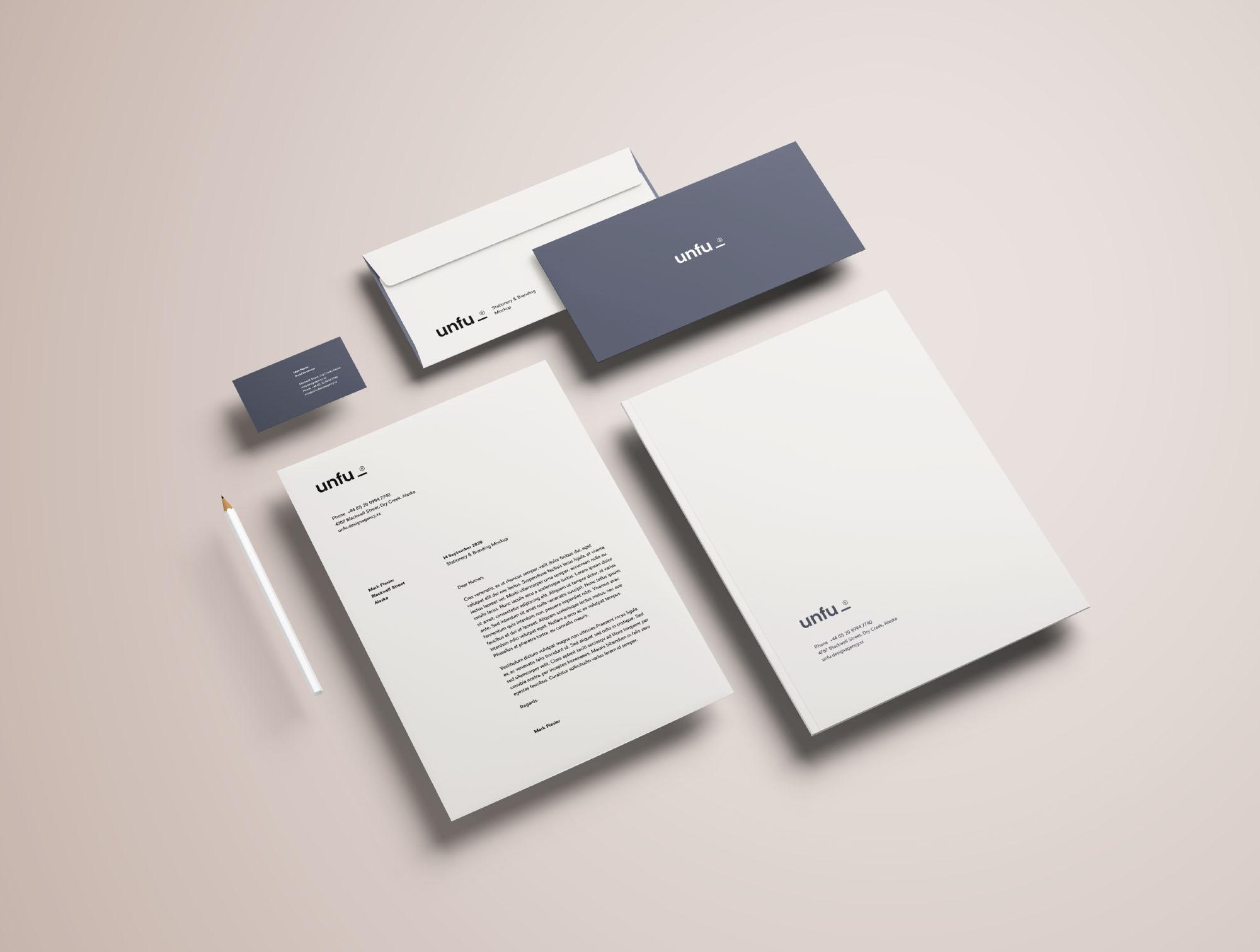 Full Branding  Identity Mockup PSD