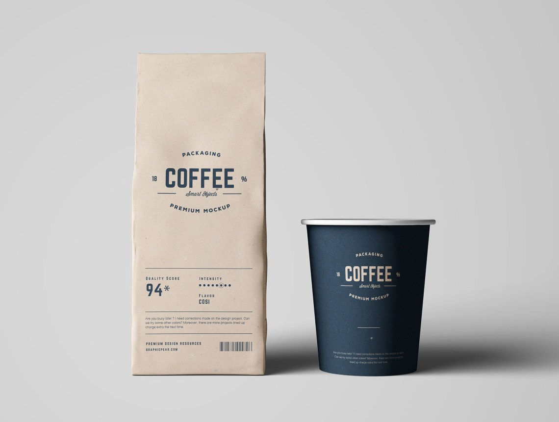 Download Coffee Package Mockup