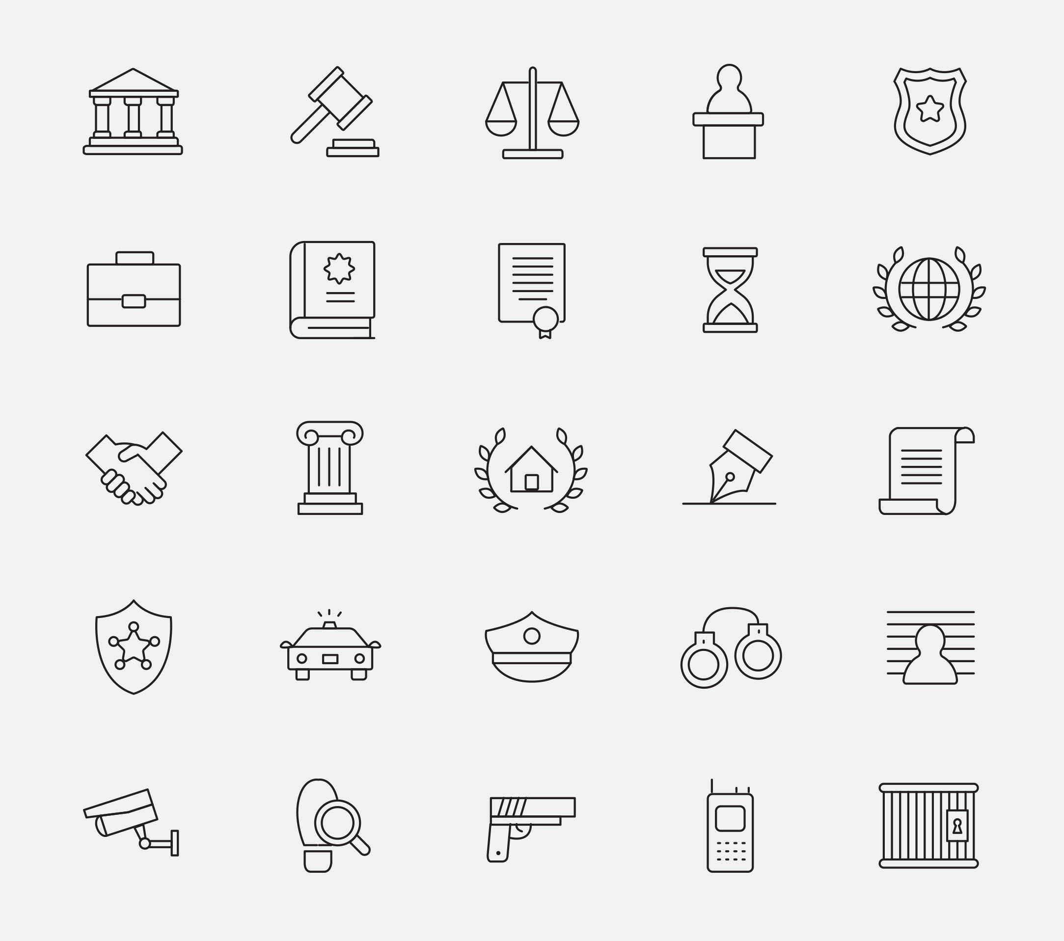 25 Law and Justice Icons