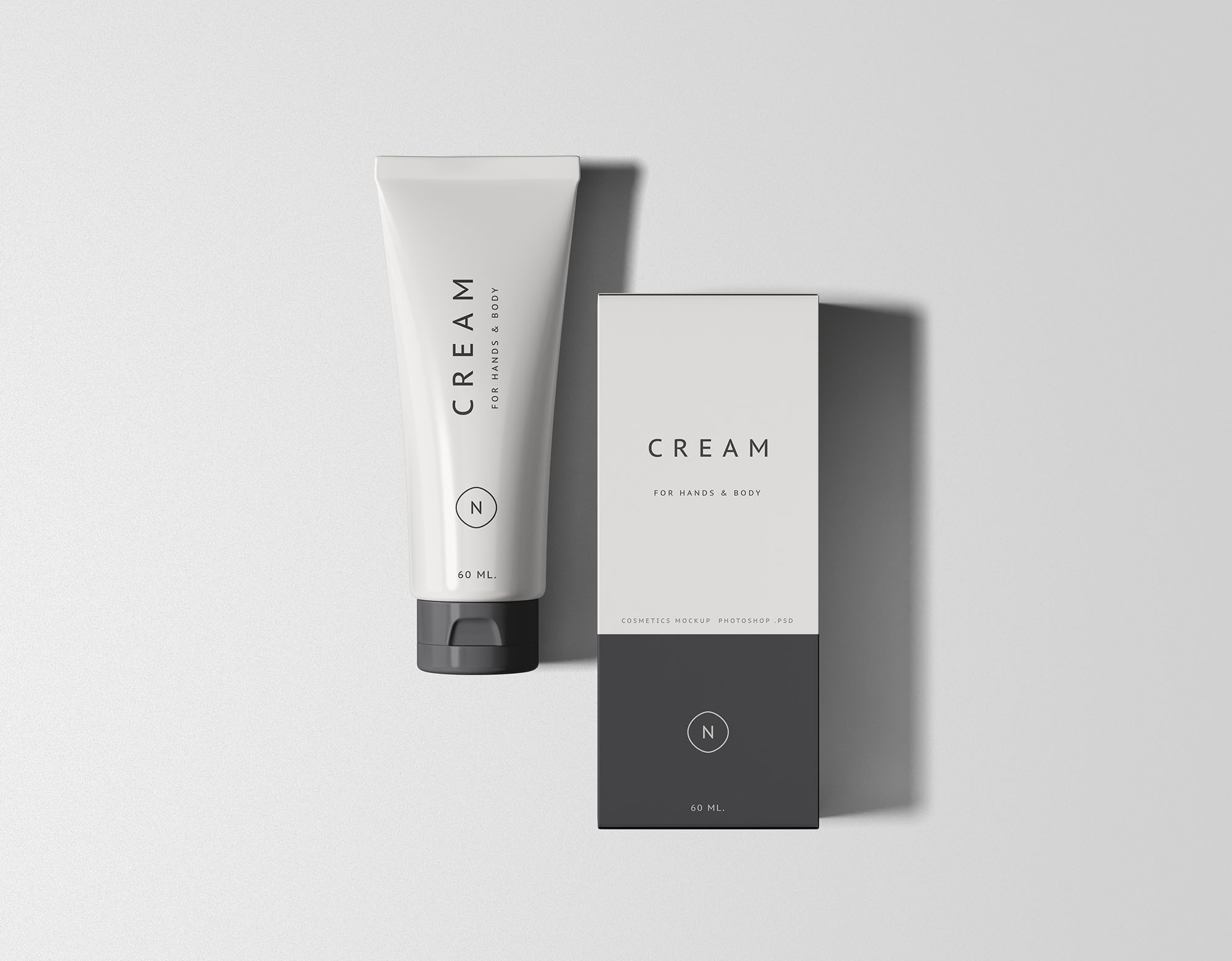 Essential Cosmetics Packaging Set Mockup