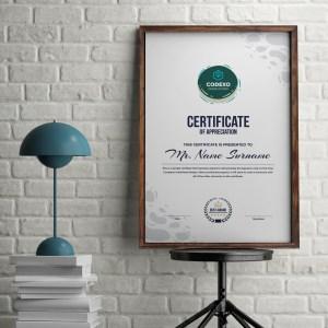 Athena Professional Portrait Certificate Template