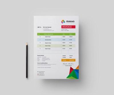 Colorful Professional Corporate Invoice Template