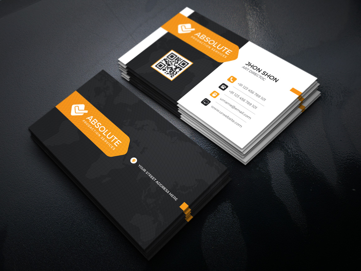 neon stylish corporate business card template  graphic