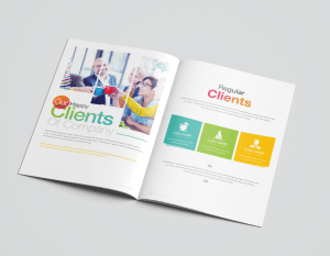 16 Pages Rainbow Elegant Corporate Brochure Template