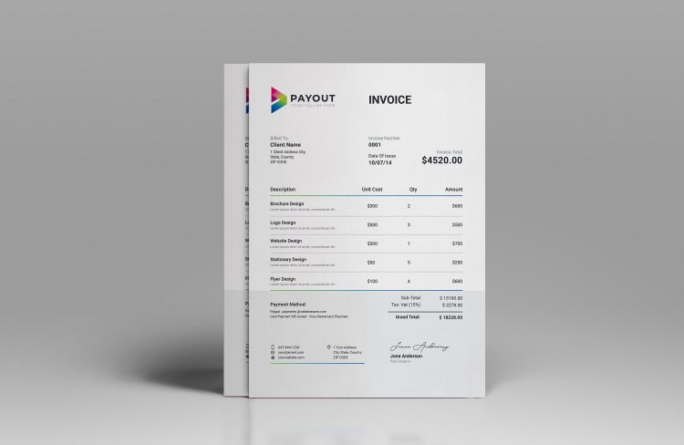 Payout Business Invoice Template