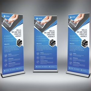 PSD Modern Roll Up Banner