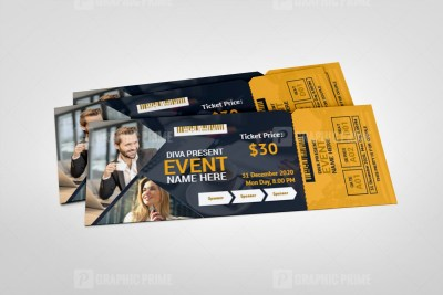 Modern Event Ticket