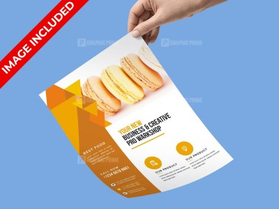 PSD Pastry Flyer Template