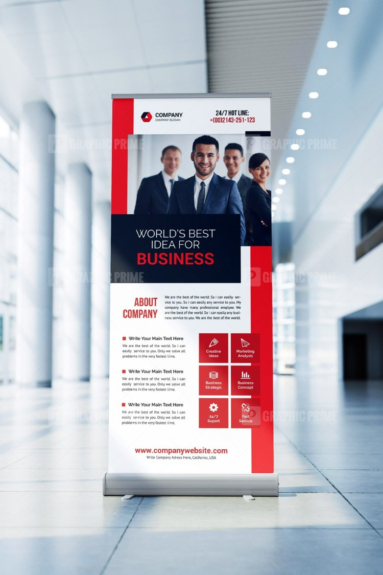 Startup Roll Up Banner Template