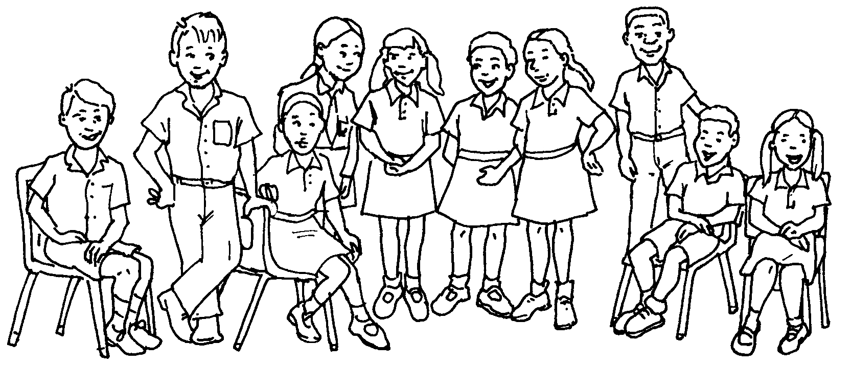 Nuclear Family Coloring Page Coloring Pages
