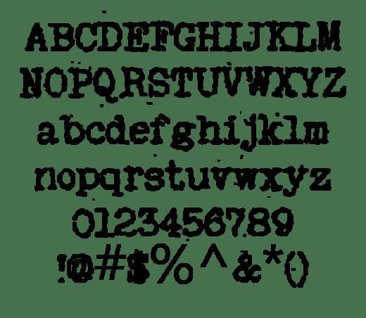 20+ Surprising Typewriter Fonts Everyone Should Have