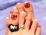 superb winter nail art design