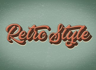 Retro style text effect preview