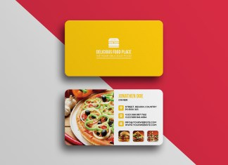 Delicious-food-business-card-template