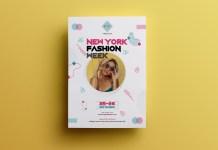 fashion week flyer template #04