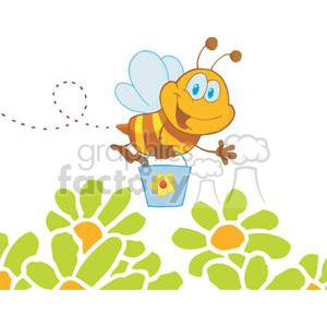 cartoon character bee flying