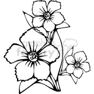 black outline of three