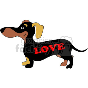 dachshund with love side