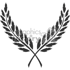 branch wreath design vector