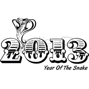 2013 Year of the snake 002 clipart. Royalty-free clipart